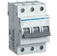 Автоматичний вимикач In=16А, 3п, С, 6 kA, 3м
