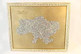 Картина Карта Украины Большая 50х40 см 1001, КОД: 176207
