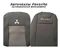 Авточехлы на MITSUBISHI Lancer X 2012р. (седан) (airbag, сп. 1/3, задн. підлок., 5 підгол.) Favorite