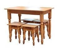 Стол + 4 табурета, дерево (Мебель-Сервис)