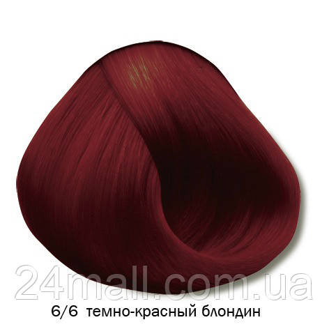 Vitality's Crema Color - Стійка крем-фарба 6/6 (темно-червоний блондин)