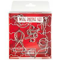 Головоломки Красный Набор Wire Puzzle Set Red