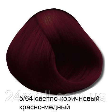 Vitality's Crema Color - Стійка крем-фарба 5/64 (світло-коричневий червоно-мідний)