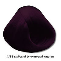 Vitality's Crema Color - Стійка крем-фарба 4/88 (глибокий фіолетовий каштан)