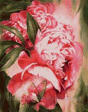 """Набор алмазной вышивки (мозаики) """"Бабочка в пионах"""". Художник Carol Calavaris, фото 2"""