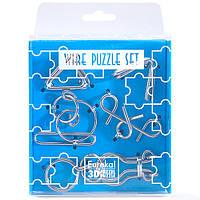 Головоломки Синий Набор Wire Puzzle Set Blue