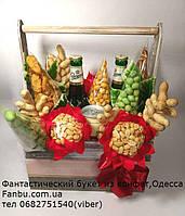 """Букет для мужчины в кашпо из пива,орешков и сухариков """"Для рыцаря"""", фото 1"""