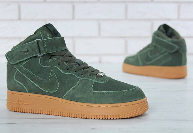 Зимние мужские кроссовки Nike Air Force 1 Mid Winter c мехом, nike air force high, фото 2
