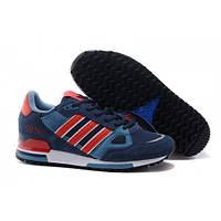 Мужские беговые сине-красные кроссовки Adidas(Адидас) Originals ZX 750 -  S013 5c835b35525