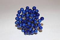 Глянцевые ягоды синего цвета (калина) около 50 шт/уп., фото 1