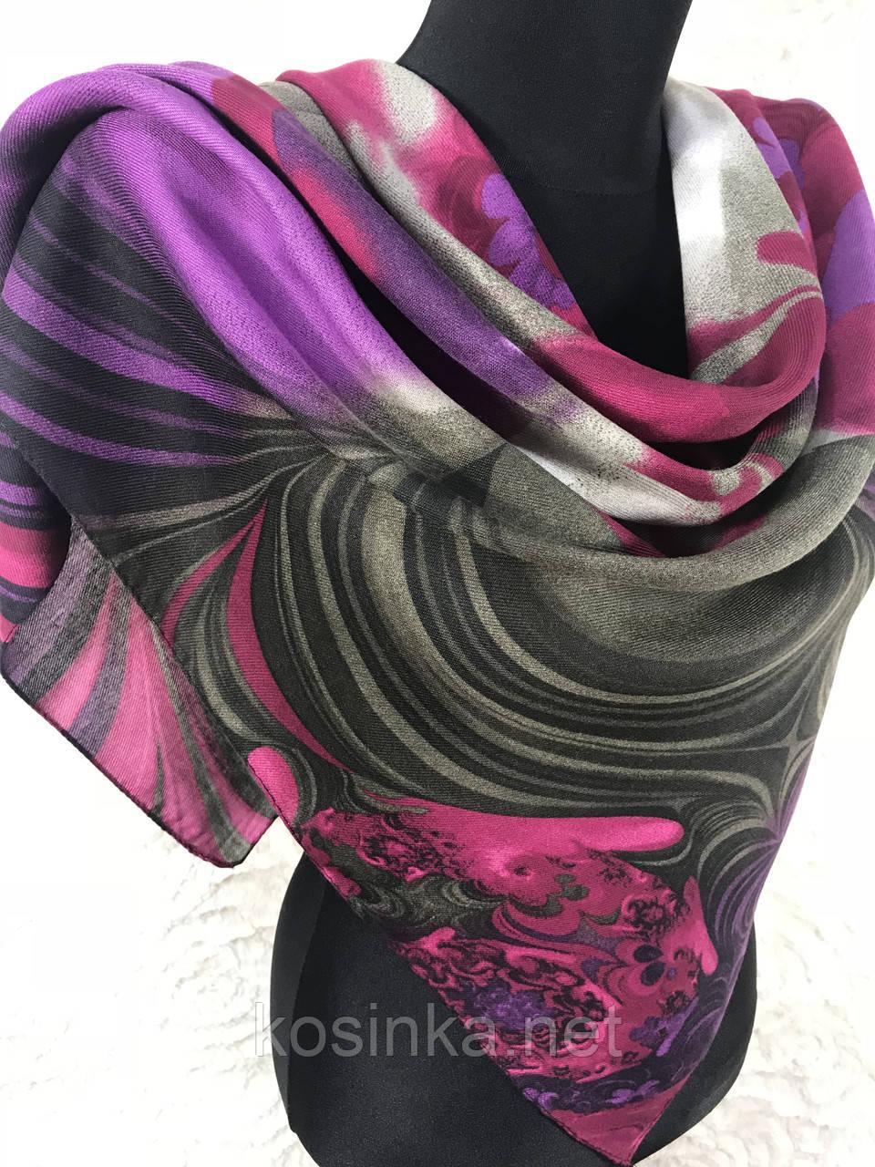 Женский теплый кашемировый платок Турция 90х90 см (цв.7)