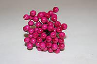 Глянцевые ягоды малинового цвета (калина) около 50 шт/уп., фото 1