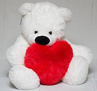 Большой мягкий медведь 140 см с сердцем 50см, фото 1