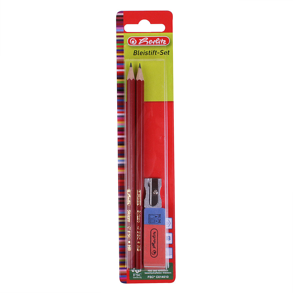 Набор для черчения Herlitz Skizzo карандаши, ластик, точилка
