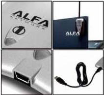 Оригинал! Сверх мощный Usb Wi-Fi адаптер Alfa Awus036H усилитель сигнала, фото 2
