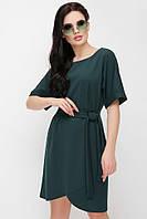 139732f18c5 Женское свободное платье до колен с поясом на талии и широкими рукавами