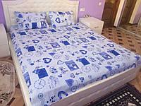 Простынь двухспальная 180*220, фото 1
