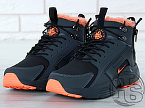 43ee70b2 Мужские кроссовки Nike Air Huarache x ACRONYM City Winter Black/Orange (с  мехом)