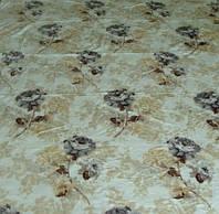 Микрофибровая простынь, покрывало Elway полуторное Каменная роза