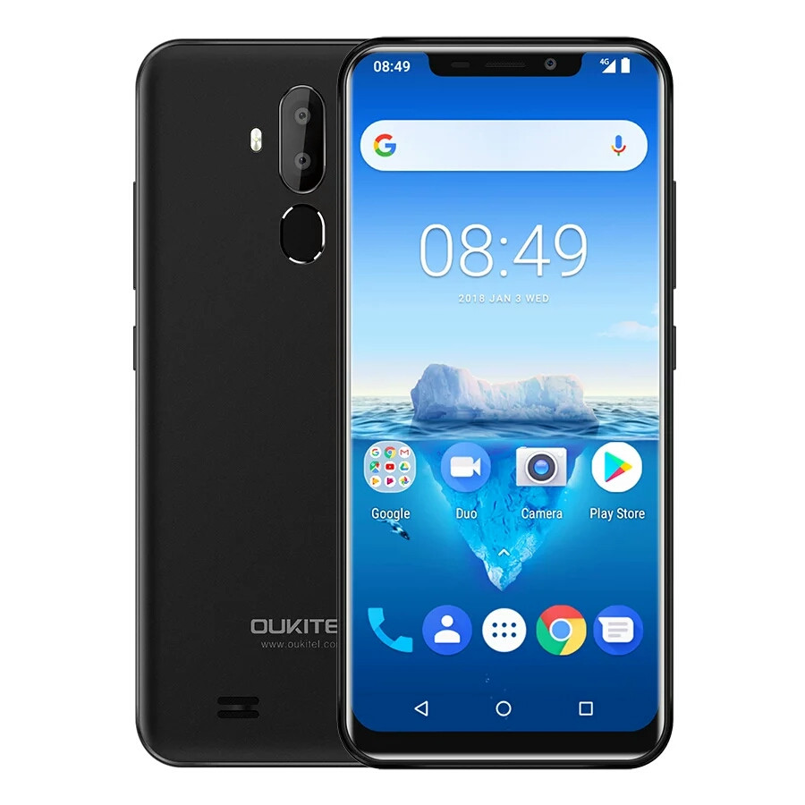 "Смартфон Oukitel C12 Pro Black 4G 6.18"" 2/16Гб 3300мАч в наличии + чехол"