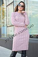 Вязаное платье Ручеек, в расцветках, фото 1