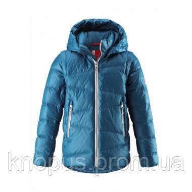 Пуховая куртка-жилет детская, темно-голубая, еврозима,  Reima Martti