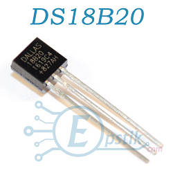 DS18B20, цифровой датчик температуры, TO92