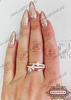 Серебряное кольцо с золотом 0469.10