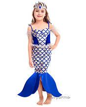 Детский карнавальный костюм Русалка Электрик Код 2129 34