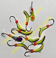 Мормышка вольфрамовая Bravo 6730-439P 3,0 мм 0,62 гр. Комар с ушком Фосфорный