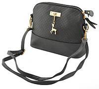 Модная женская сумка через плечо Бемби  ( цвет -  черная, красная, серая, фиолетовая )