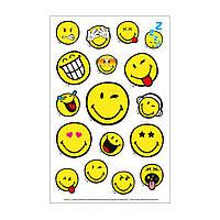 Детские наклейки смайлы Herlitz Smiley 3 листа 8х12,5 см