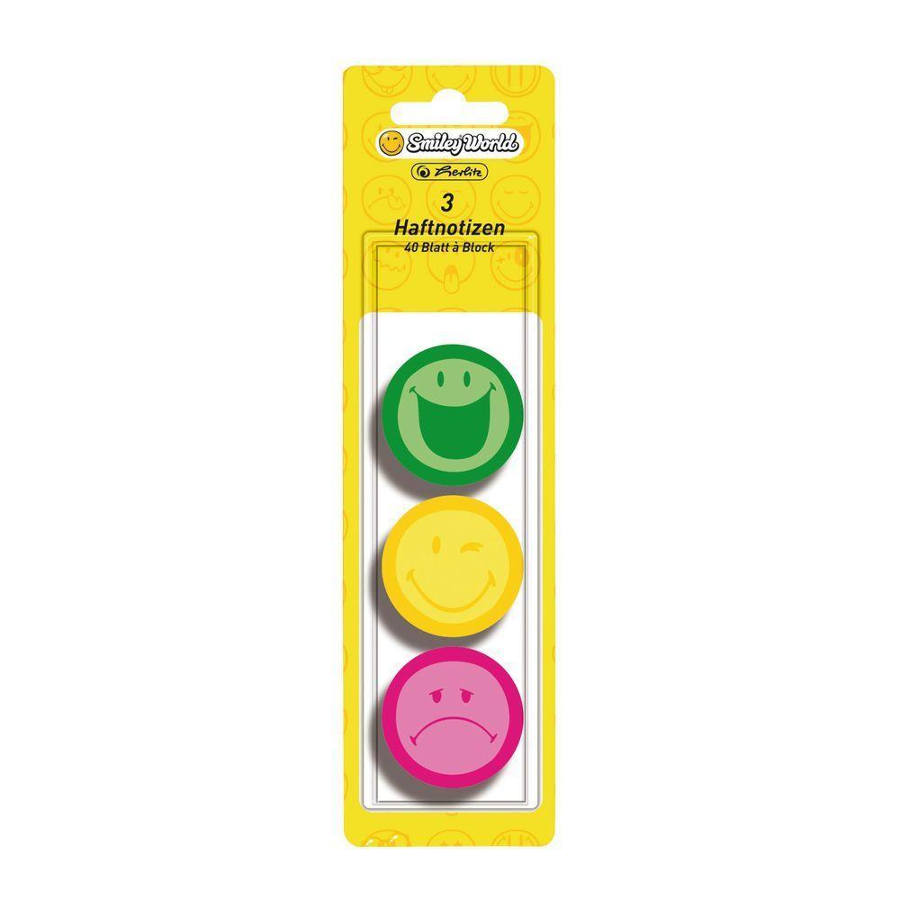 Стикеры Herlitz Smiley World цветные круглые 120 шт