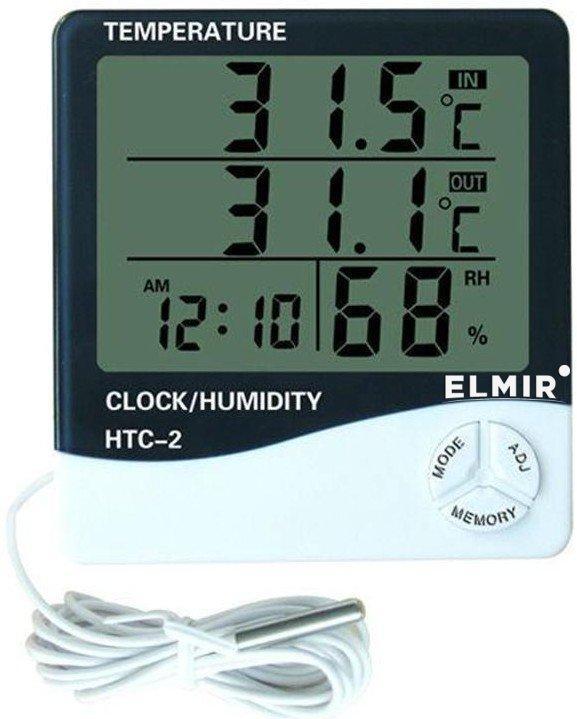 Многофункциональный термометр  с выносным датчиком Elmir HTC-2 Белый