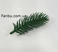 Ветка ели искусственная( пластик)зеленая, 10 см, фото 1