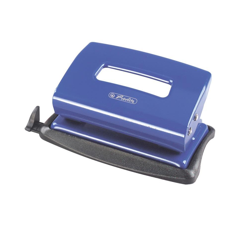 Дырокол Herlitz 15л металлический синий (8757353)