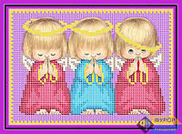 Схема для вышивки бисером - Ангелочки, Арт. ДБч5-025