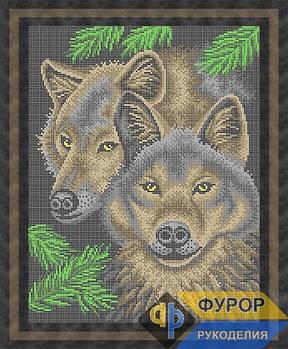 Схема для вышивки бисером картины Волчья верность (ЖБп3-003)