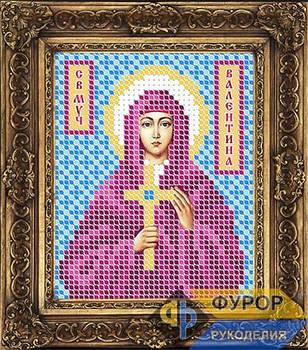 Схема для вышивки бисером иконы Валентина Святая Мученица (ИБ6-021)