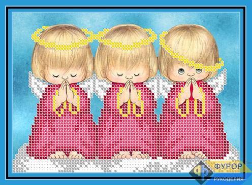 Схема для вышивки бисером картины Ангелочки или Почти идеальный (ДБч5-039)