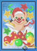 Схема для вышивки бисером - Новогодняя свинка с подарком, Арт. ДБч5-150