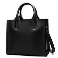 Черная классическая сумка женская натуральеая кожа