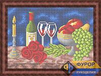 Схема для вышивки бисером - Натюрморт вино, фрукты, розы, Арт. НБп3-148