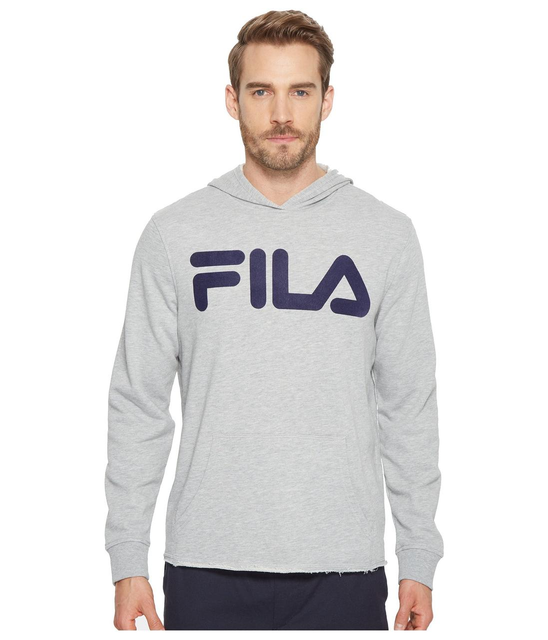 73772ef5 Толстовка Fila Locker Room Hoodie Grey Heather/Navy - Оригинал - FAIR -  оригинальная одежда