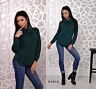 Женский свитер цвета бутылка  Daria, фото 1