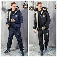 Зимний Мужской Спортивный Костюм Adidas - Адидас на овчине! 0512f2adbd24b