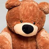 Недорогой мягкий медведь медового цвета 95 см, фото 3