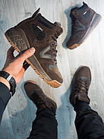 Мужские зимние кроссовки lovesport, полностью коричневые, коричневые кроссовки на меху,полностью прошиты, фото 1