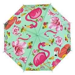 Зонтик детский C 31639 Зеленый Фламинго 69639-4