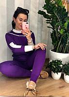 Теплый костюм фиолетового цвета, фото 1
